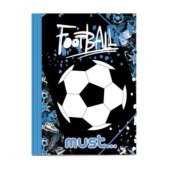 Φάκελος Λάστιχο Must Football 25x35 εκ. must Αγόρι, Κορίτσι