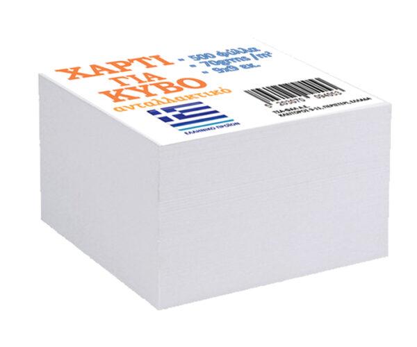 ΤΣΑ-ΦΑΛ  Χαρτί Ανταλλακτικό Κύβου 9χ9εκ Κολλητό 500Φύλλα Σ9405 ΤΣΑ-ΦΑΛ
