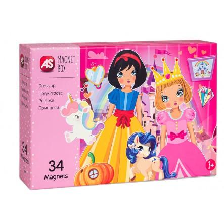 AS  Magnet Box  - Πριγκίπισσες Dressu Up 1029-64038 AS Company Games Αγόρι, Κορίτσι 3-4 ετών, 4-5 ετών