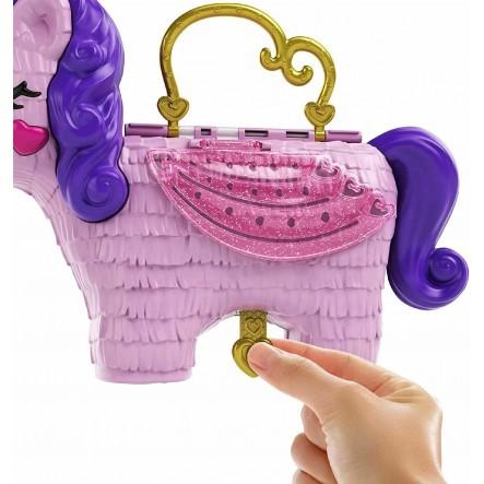 Polly Pocket Polly Pocket Unicorn Party Μονόκερος Πινιάτα Έκπληξη Σετ GVL88 4-5 ετών, 5-7 ετών Κορίτσι