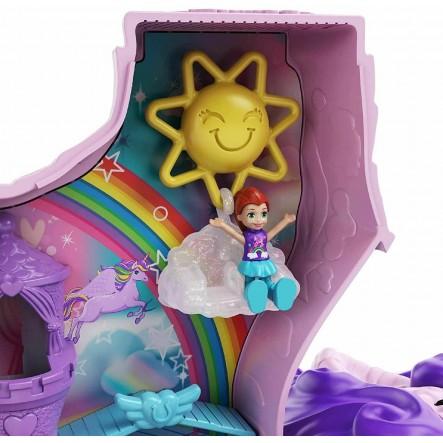 Polly Pocket Unicorn Party Μονόκερος Πινιάτα Έκπληξη Σετ GVL88 4-5 ετών, 5-7 ετών Κορίτσι Polly Pocket