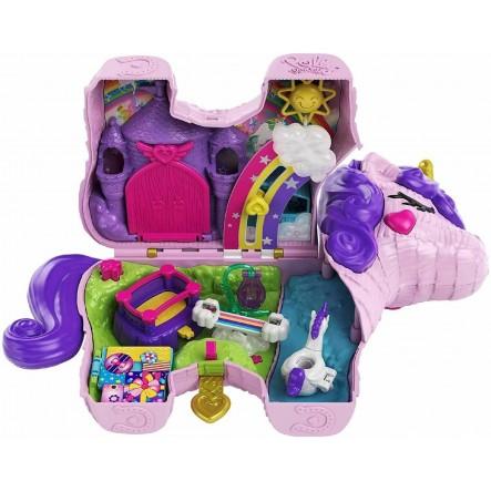 Polly Pocket  Polly Pocket Unicorn Party Μονόκερος Πινιάτα Έκπληξη Σετ GVL88 Κορίτσι 4-5 ετών, 5-7 ετών