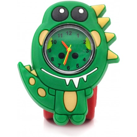 Wacky Watches Παιδικό Ρολόι Με Λουράκι Σιλικόνης Slap Δεινόσαυρος 14482293 Wacky Watches Αγόρι, Κορίτσι 5-7 ετών, 7-12 ετών