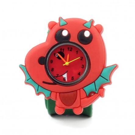 Wacky Watches Παιδικό Ρολόι Με Λουράκι Σιλικόνης Slap Δράκος 14482323 Wacky Watches Κορίτσι 5-7 ετών, 7-12 ετών