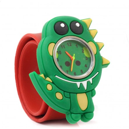 Wacky Watches Παιδικό Ρολόι Με Λουράκι Σιλικόνης Slap Δεινόσαυρος 14482293  Αγόρι, Κορίτσι 5-7 ετών, 7-12 ετών Wacky Watches