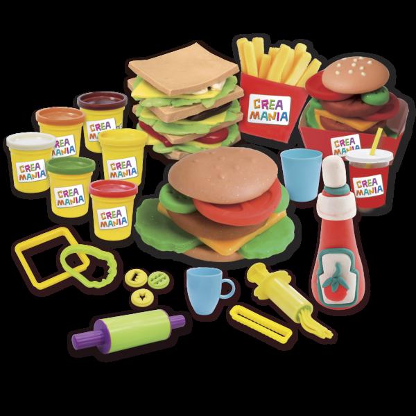 Creamania  Creamania Set Hamburger Πλαστελίνη Αγόρι, Κορίτσι 5-7 ετών, 7-12 ετών