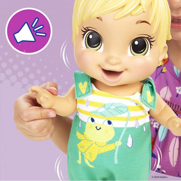 Baby Alive Baby Gotta Bounce Doll, Frog Outfit, Bounces With 25+ SFX And Giggles E9427 Κορίτσι 3-4 ετών, 4-5 ετών Baby Alive BABY ALIVE