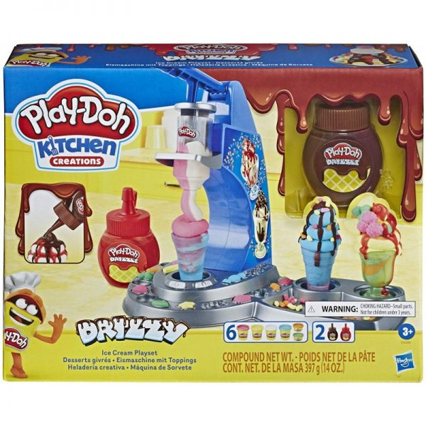 Play-Doh Kitchen Creations Drizzy Ice Cream Playset E6688 Play-Doh Αγόρι, Κορίτσι 3-4 ετών, 4-5 ετών