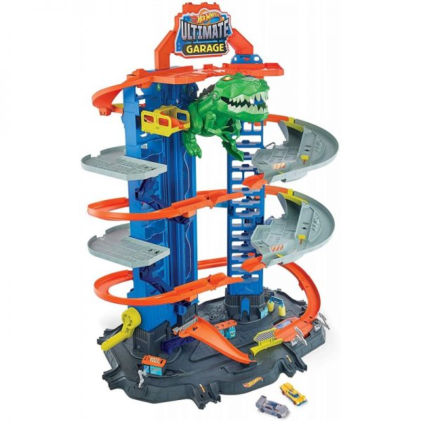 Hot Wheels Απόλυτο Γκαράζ Με Ρομποδεινόσαυρο GJL14 Hot Wheels Αγόρι 4-5 ετών Hot Wheels
