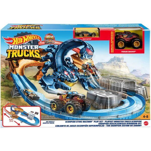 Hot Wheels Monster Trucks Πίστα Σκορπιός GNB05 Hot Wheels Αγόρι 4-5 ετών Hot Wheels