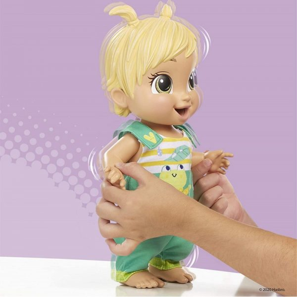 Baby Alive BABY ALIVE Baby Alive Baby Gotta Bounce Doll, Frog Outfit, Bounces With 25+ SFX And Giggles E9427 3-4 ετών, 4-5 ετών Κορίτσι