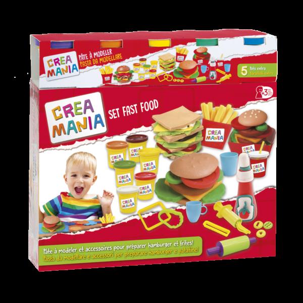Creamania Set Hamburger Πλαστελίνη Creamania Αγόρι, Κορίτσι 5-7 ετών, 7-12 ετών