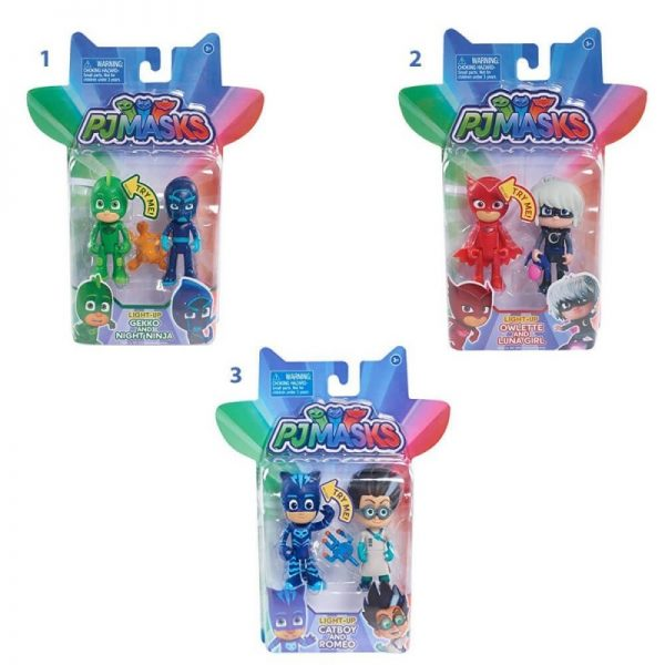 Pj masks Light-Up 2 Φιγούρες - 3 Σχέδια PJM19000 PJ MASKS Αγόρι, Κορίτσι 3-4 ετών, 4-5 ετών Pj masks