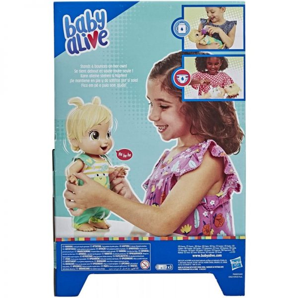 BABY ALIVE Baby Alive Baby Alive Baby Gotta Bounce Doll, Frog Outfit, Bounces With 25+ SFX And Giggles E9427 Κορίτσι 3-4 ετών, 4-5 ετών