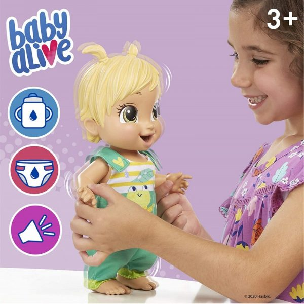 Baby Alive BABY ALIVE Κορίτσι 3-4 ετών, 4-5 ετών Baby Alive Baby Gotta Bounce Doll, Frog Outfit, Bounces With 25+ SFX And Giggles E9427