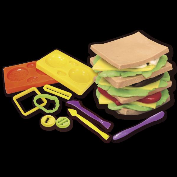 Creamania Αγόρι, Κορίτσι 5-7 ετών, 7-12 ετών Creamania Set Hamburger Πλαστελίνη
