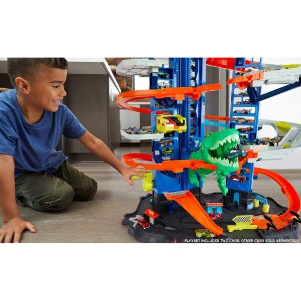Hot Wheels Hot Wheels Hot Wheels Απόλυτο Γκαράζ Με Ρομποδεινόσαυρο GJL14 Αγόρι 4-5 ετών