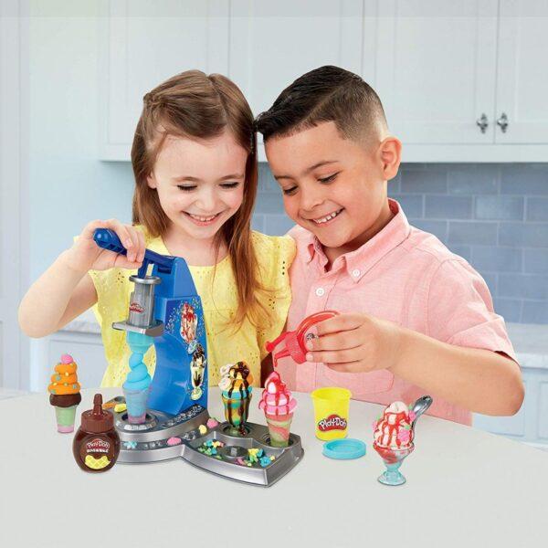 Play-Doh Kitchen Creations Drizzy Ice Cream Playset E6688 Αγόρι, Κορίτσι 3-4 ετών, 4-5 ετών  Play-Doh