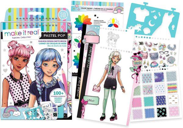 Make it Real - Sketchbook - Pastel Pop! (3205)  060186 Make it Real Κορίτσι 12 ετών +, 7-12 ετών
