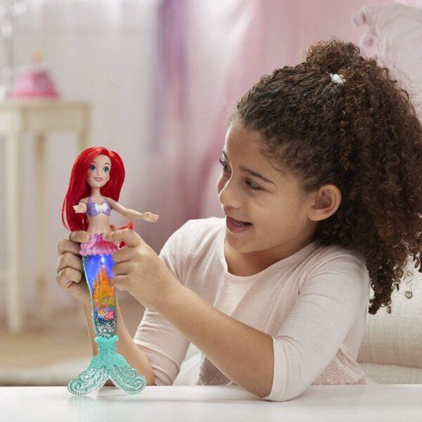 Disney Princess Glitter N Glow Ariel Γοργόνα Με Ουρά E6387 Disney princess Κορίτσι 3-4 ετών, 4-5 ετών Disney Princess