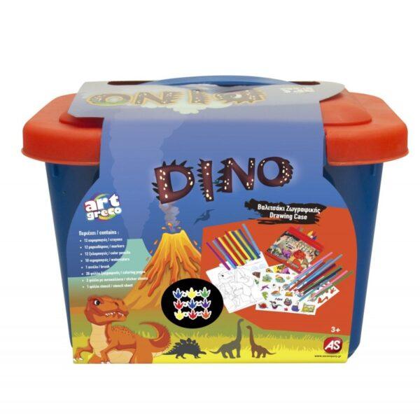 As company Βαλιτσάκι Ζωγραφικής Dinos 1023-77205 AS Company Games Αγόρι 3-4 ετών, 4-5 ετών, 5-7 ετών