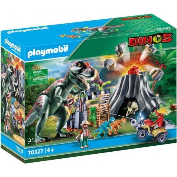 Playmobil Dinos Ηφαίστειο Με Δεινοσαύρους Και Εξερευνητές 70327 Playmobil, Playmobil Dinos Αγόρι 4-5 ετών, 5-7 ετών