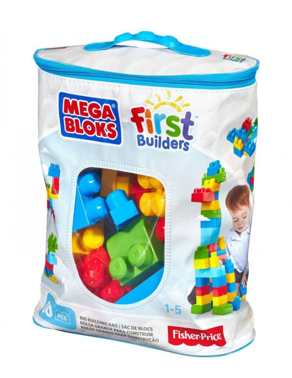 Mega Bloks First Builders Τσάντα 60 τεμαχίων Mega Bloks Αγόρι, Κορίτσι 2-3 ετών, 3-4 ετών, 4-5 ετών