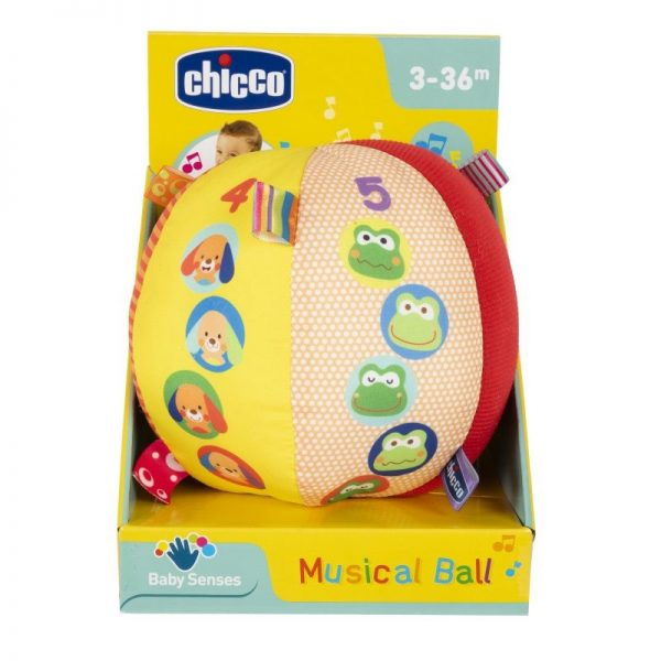 Chicco Αγόρι, Κορίτσι 0-6 μηνών, 12-24 μηνών, 6-12 μηνών Chicco Musical Ball Μουσική Μπαλίτσα 15 Εκ. Y03-10058-00