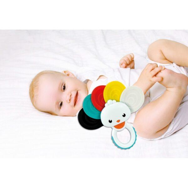 Baby Clementoni  Clementoni baby Κουδουνίστρα Οδοντοφυϊας Παγώνι 1000-17325 Αγόρι, Κορίτσι 0-6 μηνών, 6-12 μηνών