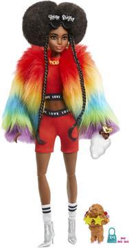 BARBIE  Barbie Extra-Rainbow Coat GVR04 Κορίτσι 3-4 ετών, 4-5 ετών, 5-7 ετών