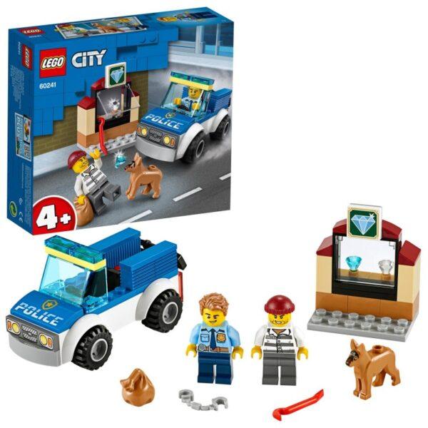 LEGO, Lego City  LEGO City Police Μονάδα Αστυνομικών Σκύλων 60241 Αγόρι 4-5 ετών, 5-7 ετών