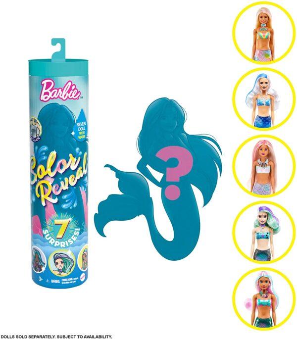 Barbie Color Reveal W4 GTP43 BARBIE Κορίτσι 3-4 ετών, 4-5 ετών, 5-7 ετών Barbie