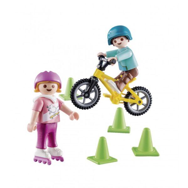 Playmobil Special Plus Παιδάκια Με Πατίνια Και Ποδήλατο BMX 70061  Αγόρι, Κορίτσι 4-5 ετών, 5-7 ετών Playmobil, Playmobil Special Plus