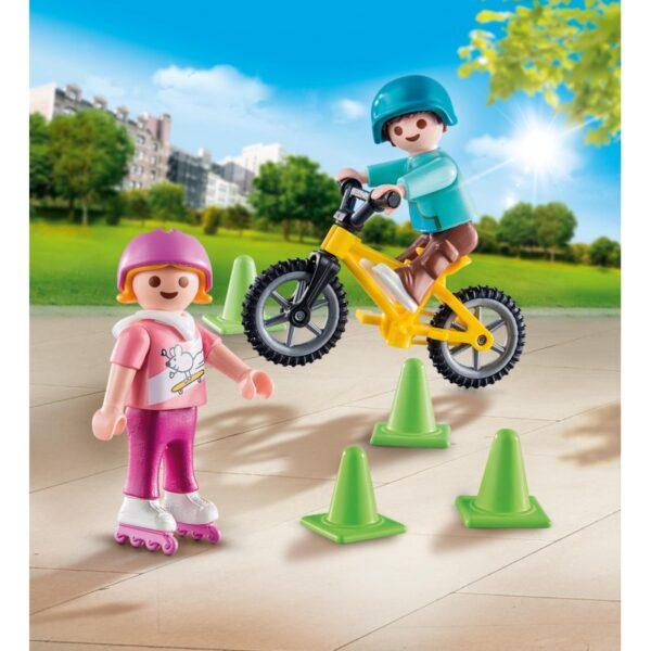 Playmobil, Playmobil Special Plus  Playmobil Special Plus Παιδάκια Με Πατίνια Και Ποδήλατο BMX 70061 Αγόρι, Κορίτσι 4-5 ετών, 5-7 ετών