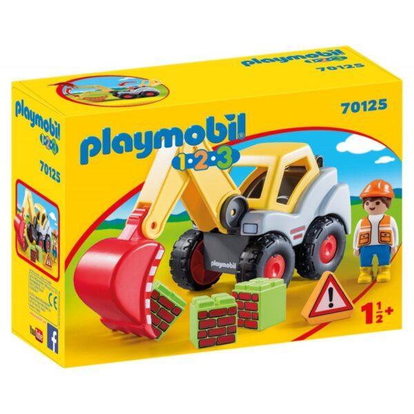 Playmobil 1.2.3 Φορτωτής Εκσκαφέας 70125 Playmobil, Playmobil 1.2.3 Αγόρι, Κορίτσι 12-24 μηνών, 2-3 ετών