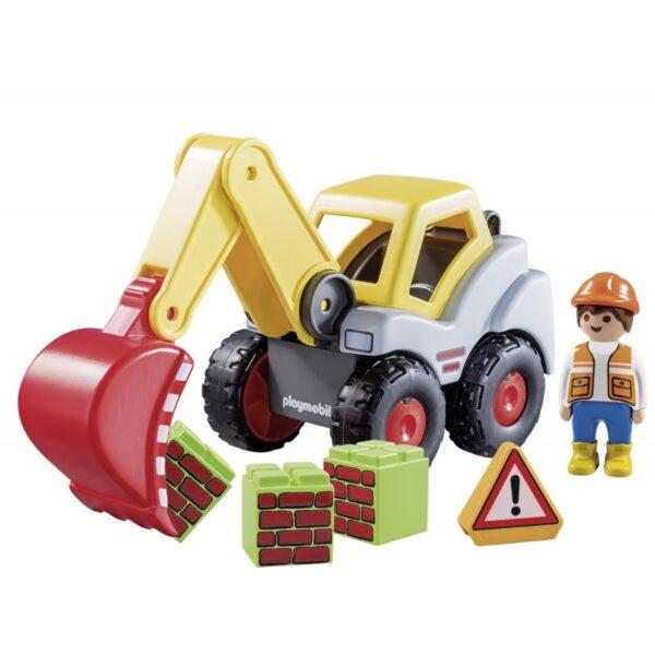 Playmobil 1.2.3 Φορτωτής Εκσκαφέας 70125  Αγόρι, Κορίτσι 12-24 μηνών, 2-3 ετών Playmobil, Playmobil 1.2.3