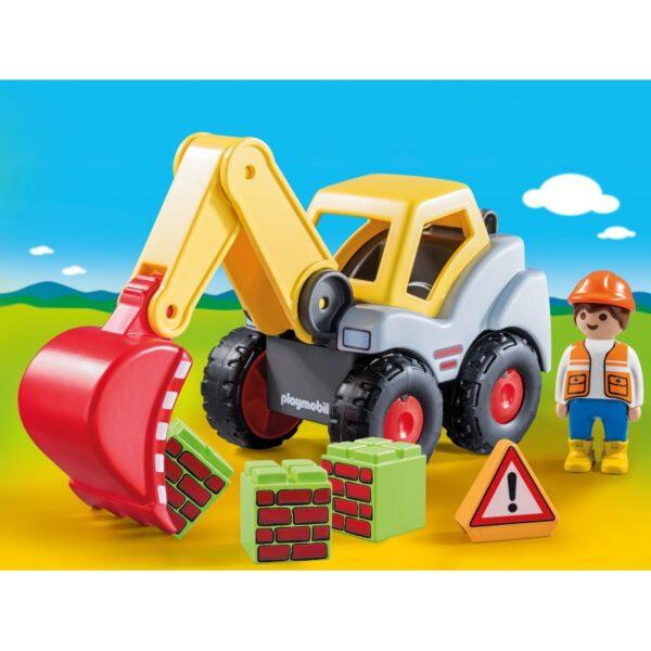 Playmobil, Playmobil 1.2.3  Playmobil 1.2.3 Φορτωτής Εκσκαφέας 70125 Αγόρι, Κορίτσι 12-24 μηνών, 2-3 ετών