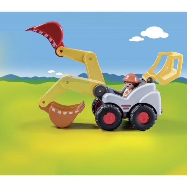 Playmobil, Playmobil 1.2.3 Αγόρι, Κορίτσι 12-24 μηνών, 2-3 ετών Playmobil 1.2.3 Φορτωτής Εκσκαφέας 70125
