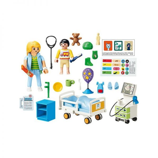 Playmobil, Playmobil City Life Αγόρι, Κορίτσι 4-5 ετών, 5-7 ετών Playmobil City Life Παιδικό Δωμάτιο Νοσηλείας 70192