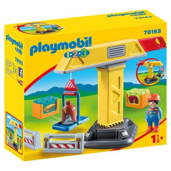 Playmobil 1.2.3 Γερανός Κατασκευών 70165 Playmobil, Playmobil 1.2.3 Αγόρι 12-24 μηνών, 2-3 ετών