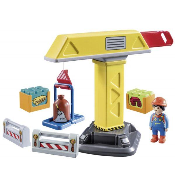 Playmobil 1.2.3 Γερανός Κατασκευών 70165  Αγόρι 12-24 μηνών, 2-3 ετών Playmobil, Playmobil 1.2.3