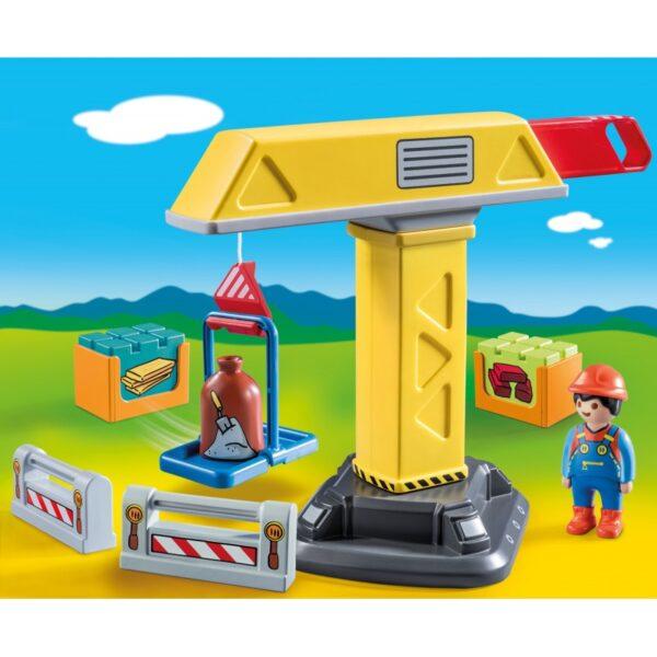 Playmobil, Playmobil 1.2.3  Playmobil 1.2.3 Γερανός Κατασκευών 70165 Αγόρι 12-24 μηνών, 2-3 ετών