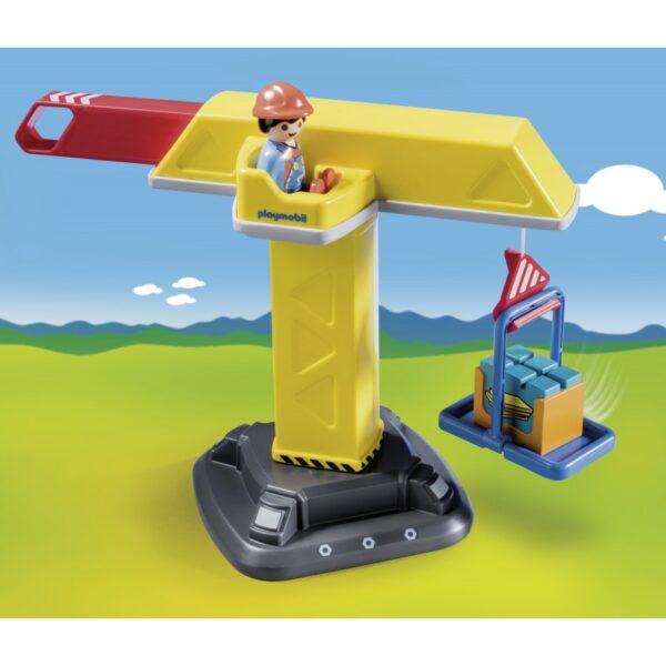 Playmobil, Playmobil 1.2.3 Αγόρι 12-24 μηνών, 2-3 ετών Playmobil 1.2.3 Γερανός Κατασκευών 70165
