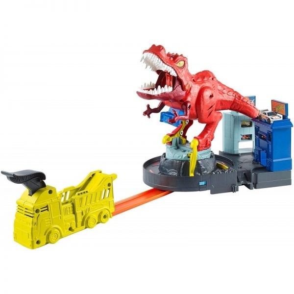 Hot Wheels T-Rex Rampage Δεινόσαυρος Τ-Ρεξ Με Ήχους GFH88 Hot Wheels Αγόρι 3-4 ετών, 4-5 ετών