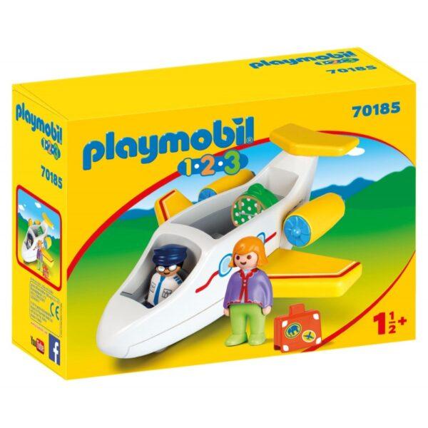 Playmobil 1.2.3 Αεροπλάνο Με Επιβάτη 70185 Playmobil, Playmobil 1.2.3 Αγόρι, Κορίτσι 12-24 μηνών, 2-3 ετών