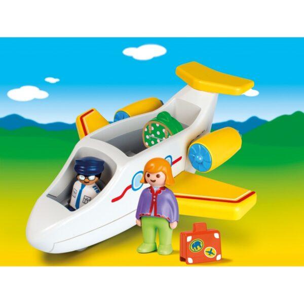 Playmobil, Playmobil 1.2.3  Playmobil 1.2.3 Αεροπλάνο Με Επιβάτη 70185 Αγόρι, Κορίτσι 12-24 μηνών, 2-3 ετών