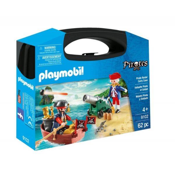 Playmobil Pirates Βαλιτσάκι Λιμενοφύλακας Με Κανόνι Και Πειρατής Σε Βάρκα 9102 Playmobil, Playmobil Pirates Αγόρι, Κορίτσι 4-5 ετών, 5-7 ετών