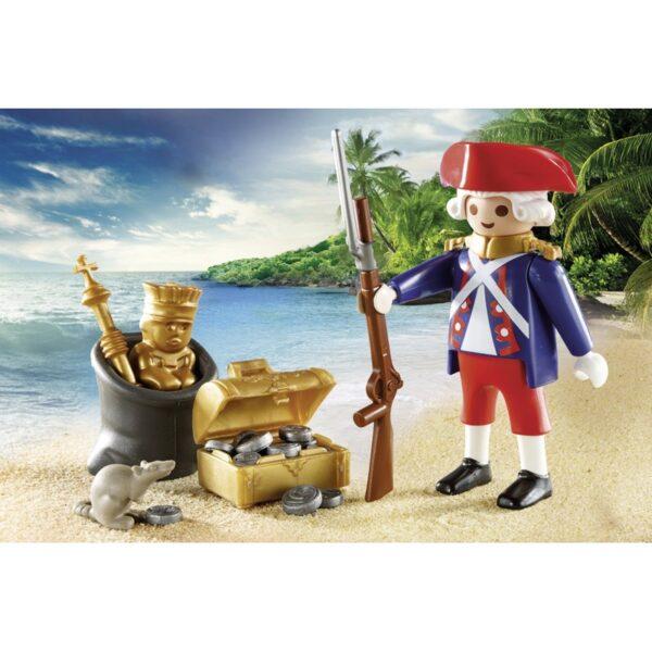 Playmobil, Playmobil Pirates Αγόρι, Κορίτσι 4-5 ετών, 5-7 ετών Playmobil Pirates Βαλιτσάκι Λιμενοφύλακας Με Κανόνι Και Πειρατής Σε Βάρκα 9102
