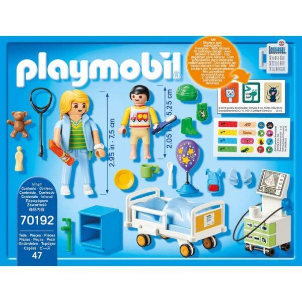 Playmobil, Playmobil City Life  Playmobil City Life Παιδικό Δωμάτιο Νοσηλείας 70192 Αγόρι, Κορίτσι 4-5 ετών, 5-7 ετών