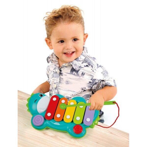 Baby Clementoni  Baby Clementoni Μουσικό Ξυλόφωνο Δεινοσαυράκι 1000-17263 Αγόρι, Κορίτσι 12-24 μηνών, 6-12 μηνών